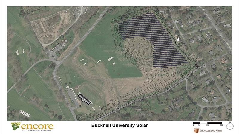 Bucknell Solar landscape plan rendering